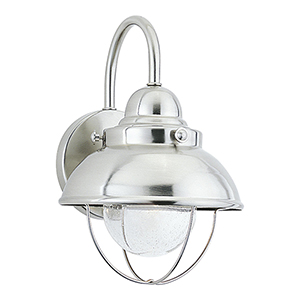 Sebring Brushed Stainless Eight-Inch LED Outdoor Wall Sconce