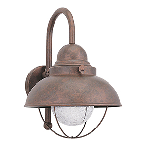 Sebring Weathered Copper 11-Inch LED Outdoor Wall Sconce