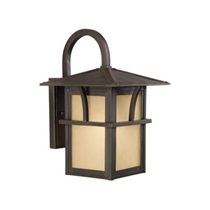 Medford Lakes Statuary Bronze Energy Star 15-Inch LED Outdoor Wall Lantern