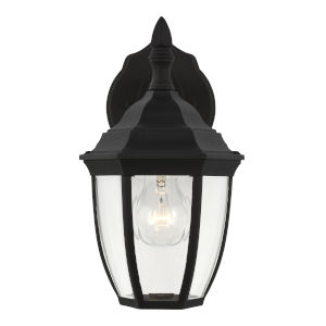 Bakersville Black One-Light Outdoor Wall Sconce with Clear Beveled Shade