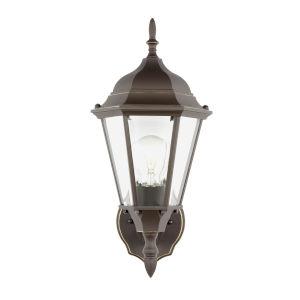 Bakersville Antique Bronze 8-Inch One-Light Outdoor Wall Lantern