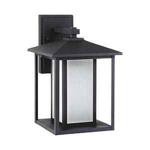 Hunnington Black Nine-Inch LED Outdoor Wall Sconce