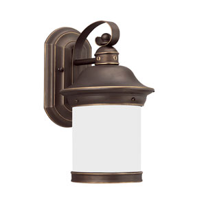 Hermitage Antique Bronze Energy Star 14-Inch LED Outdoor Wall Lantern