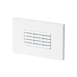 Louver White LED Horizontal Step Light