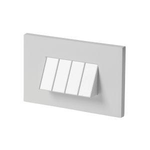 Tarpa Satin Nickel LED Horizontal Step Light