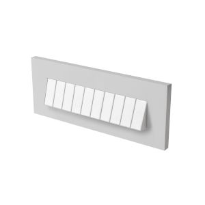 Tarpa Satin Nickel LED Brick Light