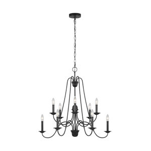 Boughton Antique Forged Iron 10-Light Chandelier