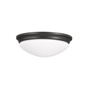 Barrington Oil Rubbed Bronze One-Light Flush Mount with White Opal Etched Shade