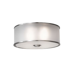 Casual Luxury Brushed Steel Two-Light Flush Mount