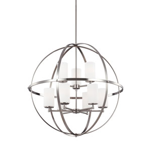 Alturas Brushed Nickel Energy Star Nine-Light LED Chandelier
