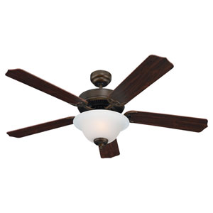 Quality Max Plus Two-Light Russet Bronze Energy Star LED 52-Inch Ceiling Fan