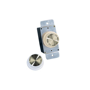 White Ceiling Fan Rotary Wall Control