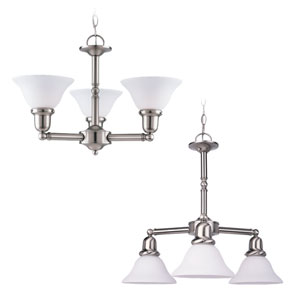 Sussex Brushed Nickel Three-Light Chandelier