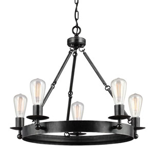 Ravenwood Manor Stardust Five-Light Round Chandelier
