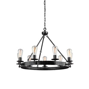 Ravenwood Manor Stardust Nine-Light  Round Chandelier