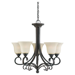 Del Prato Chestnut Bronze Five-Light Chandelier