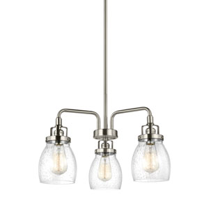 Belton Brushed Nickel 20-Inch Three-Light Chandelier