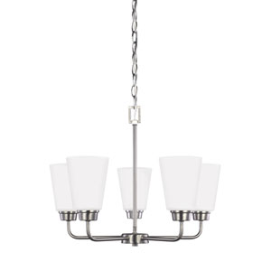 Kerrville Brushed Nickel Five-Light Chandelier