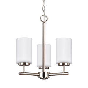 Oslo Brushed Nickel 15-Inch Three-Light Chandelier