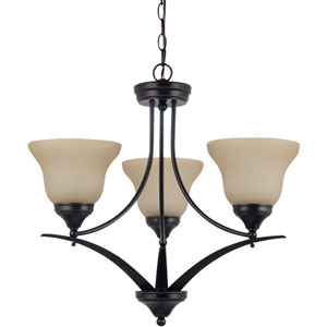 Brockton Burnt Sienna  Three-Light Chandelier