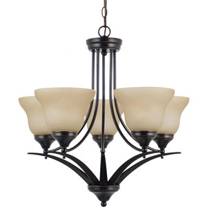 Brockton Burnt Sienna  Five-Light Chandelier