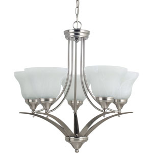 Brockton Brushed Nickel  Five-Light Chandelier