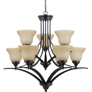 Brockton Burnt Sienna  9-Light Chandelier