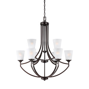 Hanford Bronze Nine-Light Chandelier