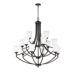 Hanford Bronze 15-Light Chandelier