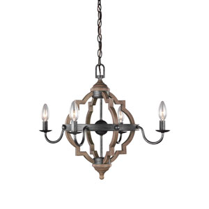 Socorro Stardust 22-Inch Energy Star Four-Light Chandelier