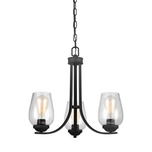 Morill Blacksmith 19.5-Inch Three-Light Chandelier