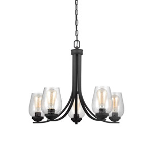 Morill Blacksmith 26-Inch Five-Light Chandelier