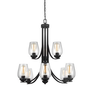 Morill Blacksmith 31.5-Inch Nine-Light Chandelier