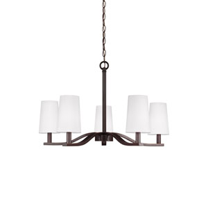 Nance Heirloom Bronze 27.5-Inch Five-Light Chandelier
