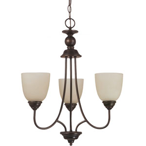 Lemont Burnt Sienna  Three-Light Chandelier