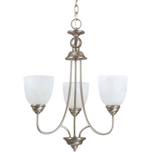 Lemont Antique Brushed Nickel  Three-Light Chandelier