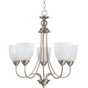 Lemont Antique Brushed Nickel  Five-Light Chandelier