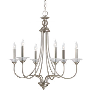 Lemont Antique Brushed Nickel  Six-Light Chandelier