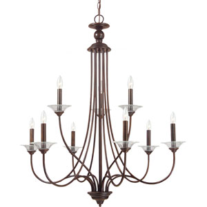 Lemont Burnt Sienna  9-Light Chandelier