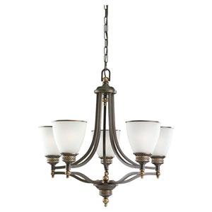 Laurel Leaf Estate Bronze Five-Light Chandelier