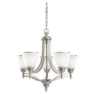 Laurel Leaf Antique Brushed Nickel Five-Light Chandelier