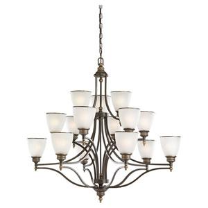 Laurel Leaf Estate Bronze 15-Light Chandelier