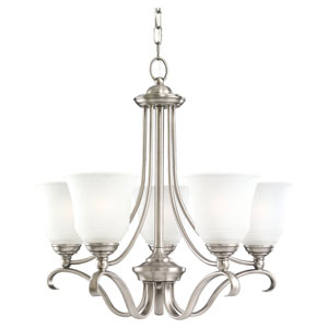 Parkview Antique Brushed Nickel Five-Light Chandelier