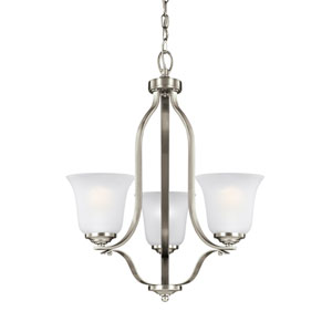 Emmons Brushed Nickel 19.5-Inch Three-Light Chandelier
