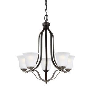 Emmons Heirloom Bronze 24-Inch Five-Light Chandelier