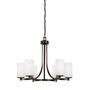 Hettinger Burnt Sienna 24.5-Inch Six-Light Chandelier