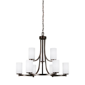 Hettinger Burnt Sienna 30-Inch Nine-Light Chandelier