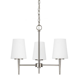 Driscoll Brushed Nickel Three Light Single Tier Chandelier