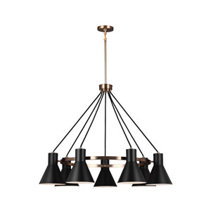Towner Satin Bronze 35-Inch Seven-Light Chandelier