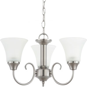 Holman Brushed Nickel  Three-Light Chandelier